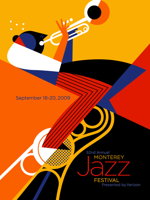 The poster of the Monterey Jazz Festival By Pablo Lobato