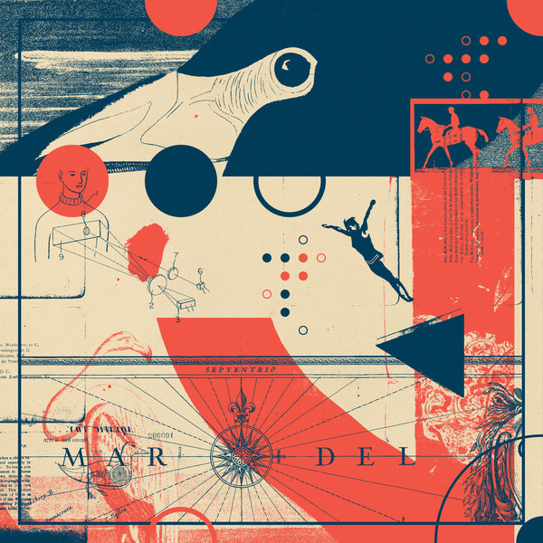 Fragments Tile 7/12 Art Print #mountain #horse #print #dive #geometric #bird #grid #art #tile #flowers