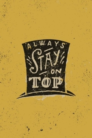 BLOG, THE : Part of: To Resolve Project #yellow #tophat #drawn #type #typography