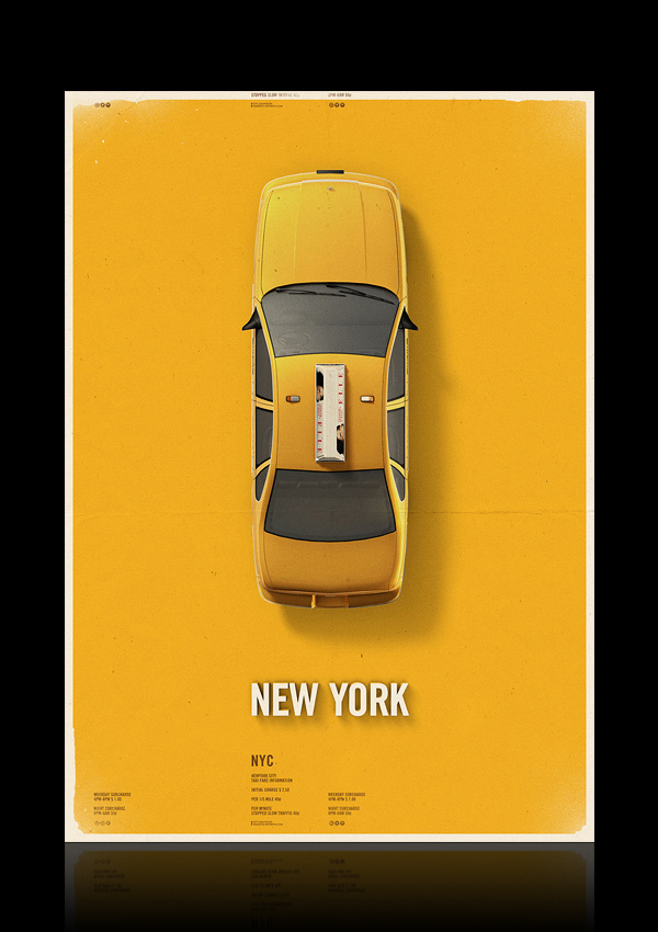 Citycab poster on Behance #yellow #cab #taxi