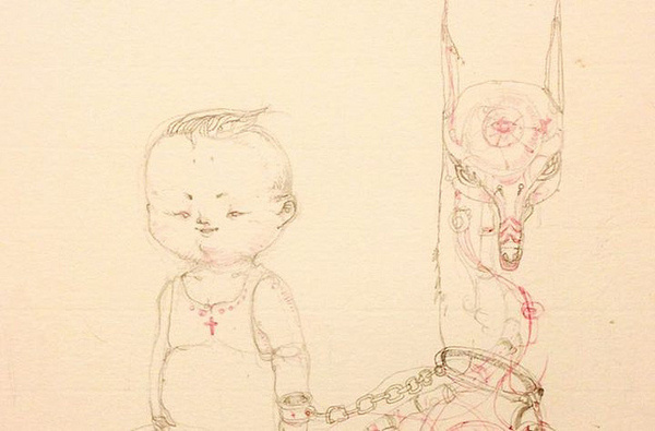 Feric Returns from a Hiatus with New Drawings | Hi Fructose Magazine #animal #pet #sketch #child