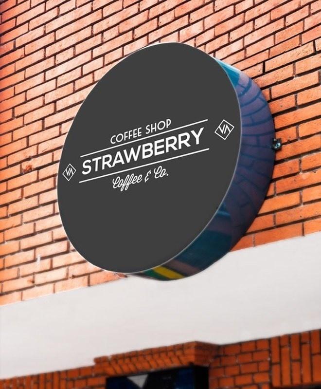 best art sign wall outdoor mockup images on designspiration