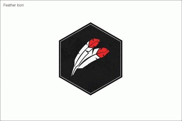Logos #icon #design #black #fether #veronicavelasquez #logo #hexagon