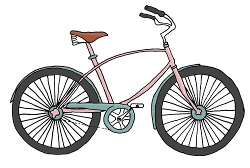 flora | florafrickerart: bicycle illustration by Flora... #flora #bicycle #fricker #illustration #bike