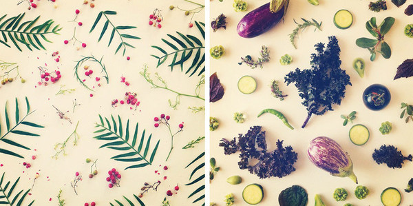 Julie Lee food collage duo #photography #fruits #food #vegetable