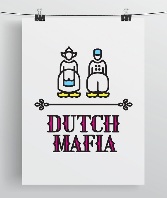Dutch Mafia on the Behance Network #font #mafia #yellow #color #icons #magenta #traditional #poster #numbers #type #dutch