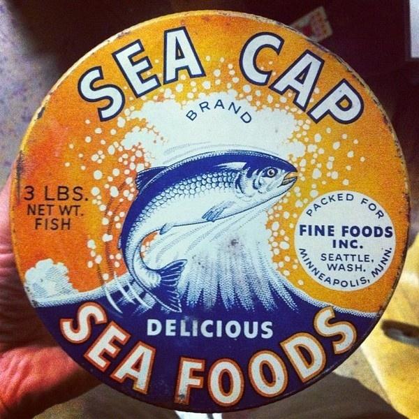 Sea Cap #tin #illustration #typography