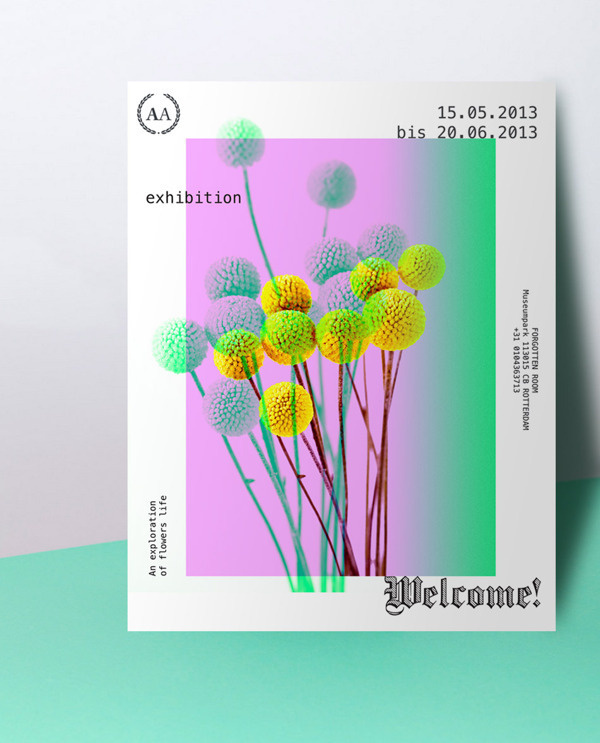 AA exhibition on Behance #flower #poster