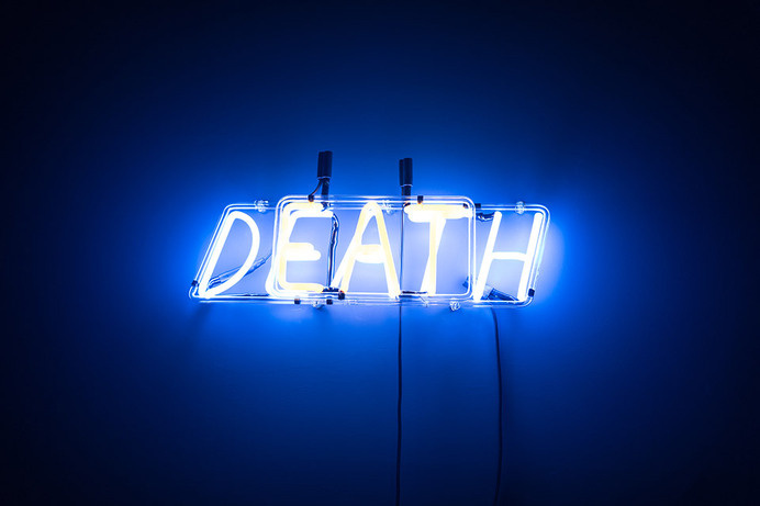 #death #neon #installation
