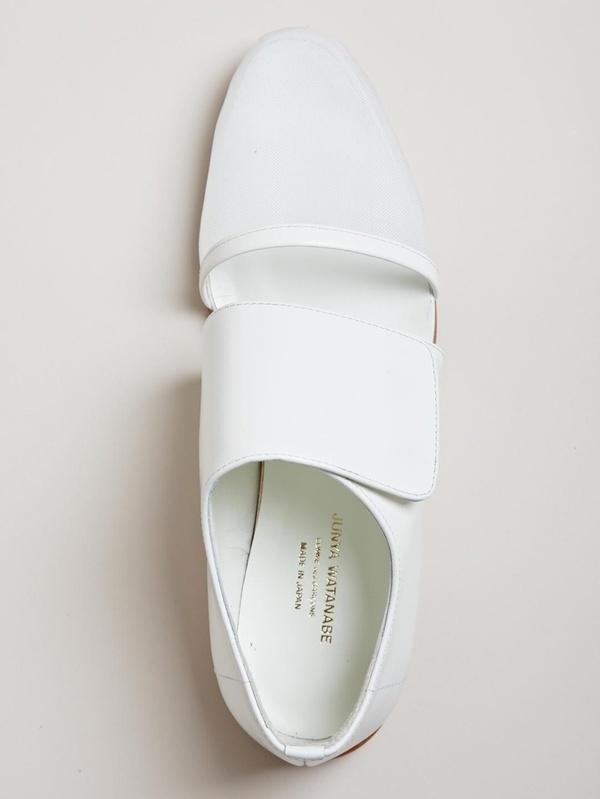 Junya Watanabe Womens Mesh Toe Shoes #white #shoe