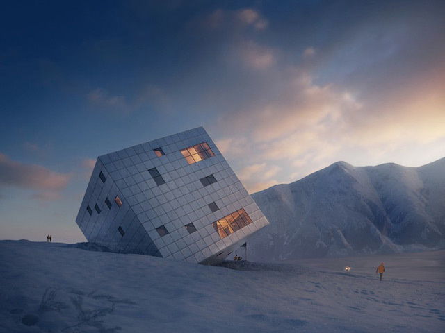 0-Stunning Cube Hut Project by lAtelier 8000 #cabin