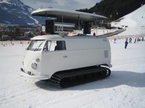 van2 Snow tracks from VW van photo #tracks #van #vw #snow