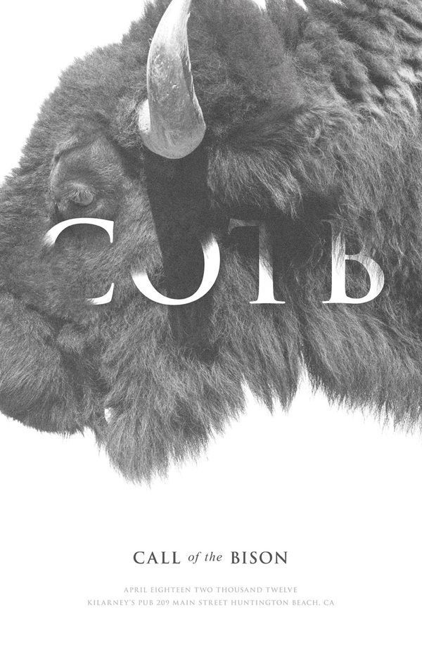 Call Of The Bison by Keith Barney #bison #poster #typography
