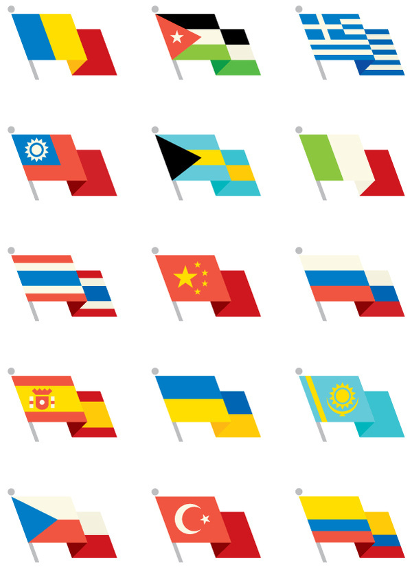World Flags, by Always With Honor #inspiration #creative #design #graphic #world #illustration #flags