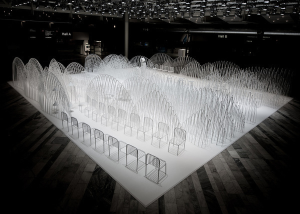 80 Sheets of Mountains installation by Nendo in Stockholm #installation