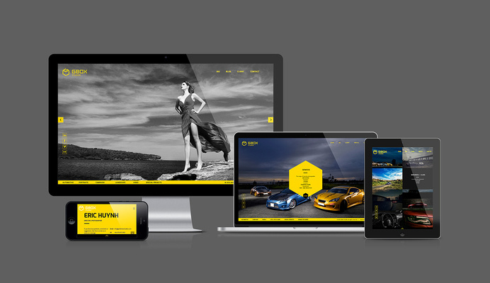 Gbox Studios Website #ux #responsive #design #tablet #ui #mobile #layout #web