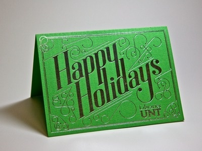 Libraries Holiday Card #print #lettering #letterpress #typography