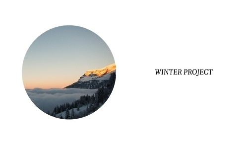 Winter Project #circle #project #winter