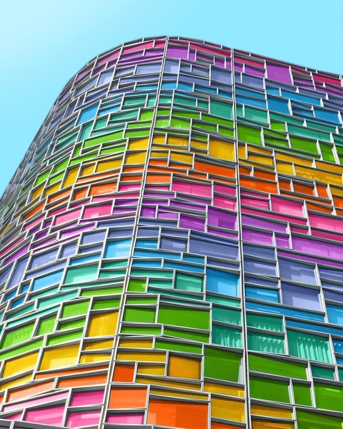 Ramzy Masri Turns Some Classic Buildings Into Rainbow Colors Creations