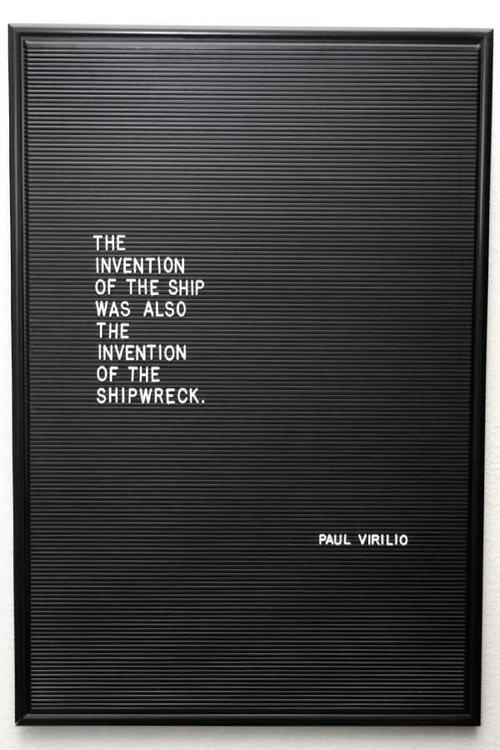 The invention of the shipwreck. #asd