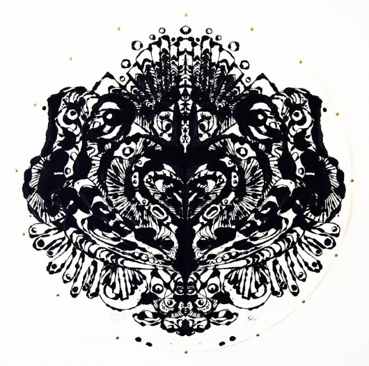 Stunning Ink-Pressings by Robyn Wilson [a.k.a Flutter Lyon] I Art Sponge #abstract #ink #wilson #robyn #lyon #pressing #flutter #psychoanalysis #psychology