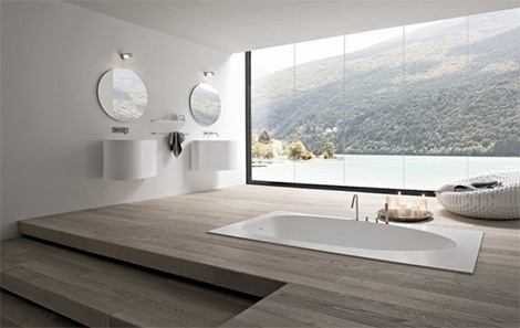 For the Record, archiphile: via trendir #interior #design #infloor #bathtub