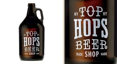 Top Hops Beer Shop #growler #beer #packaging #bottle
