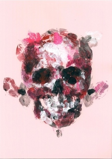 I don't care how you give it to me as long as you do it in a beautiful way him her #skull #painting #leaves