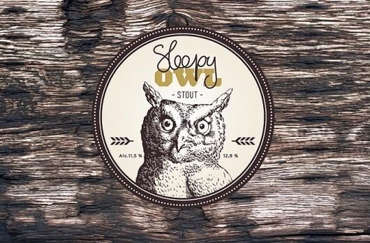 Sleepy Owl identity   ROSS SOKOLOVSKI #beer #owl #retro #identity #logo #pub #style #typography