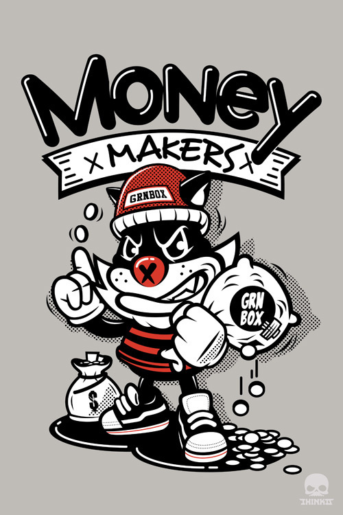 money makers #illustration #design #character #tshirt