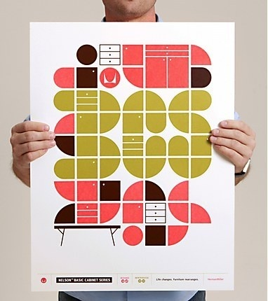 Herman Miller Nelson Basic Cabinet Series campaign #screenprinted #miller #cabinet #furniture #poster #herman