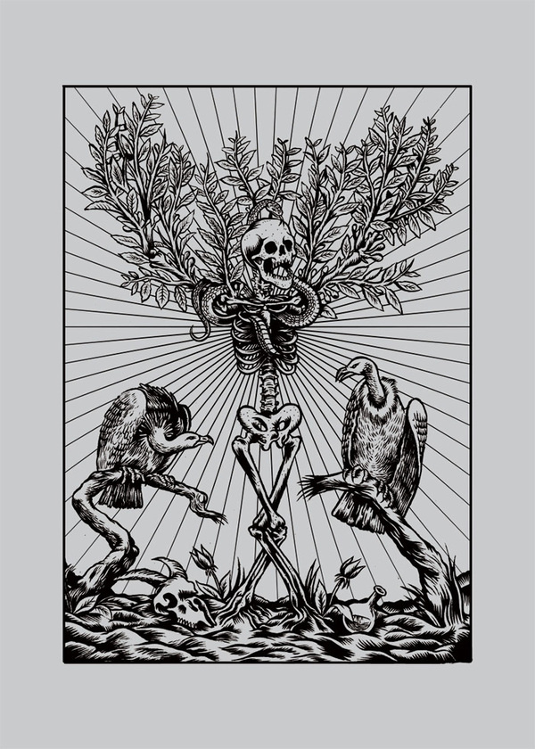 Luca Zamoc / Portfolio #skeleton #tree #illustration #death #volture