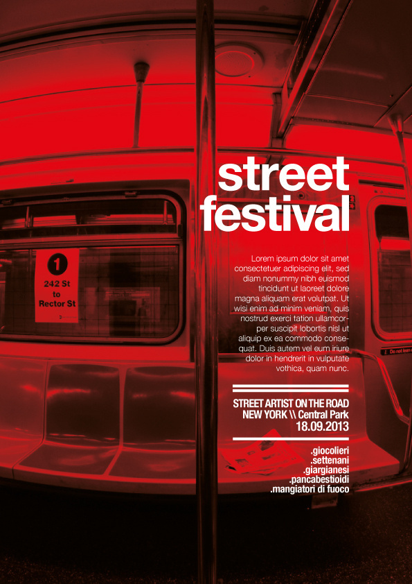 street festival NY :: Posters #ny #grounge #festival #graphic #posters #poster #street #york #metro #new