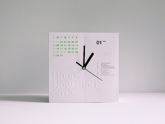 Antalis Calenclock 2012 on the Behance Network #promo