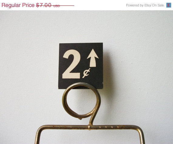 ON SALE 2 Cents Vintage General Store Price Tag #type #tag #vintage #price