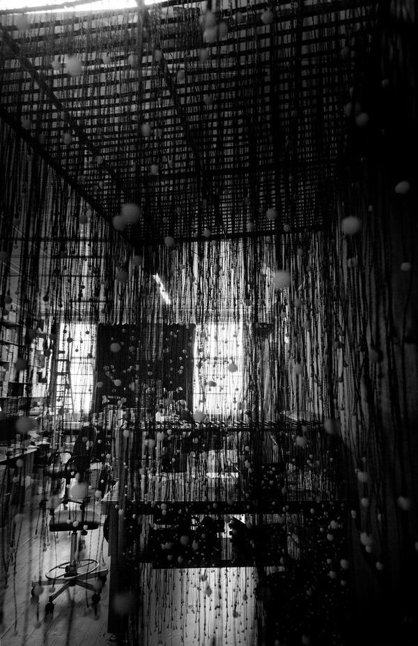 Jim Campbell 1956 on the Behance Network #bulb #jim #campbell #wire #studio #art #light #led