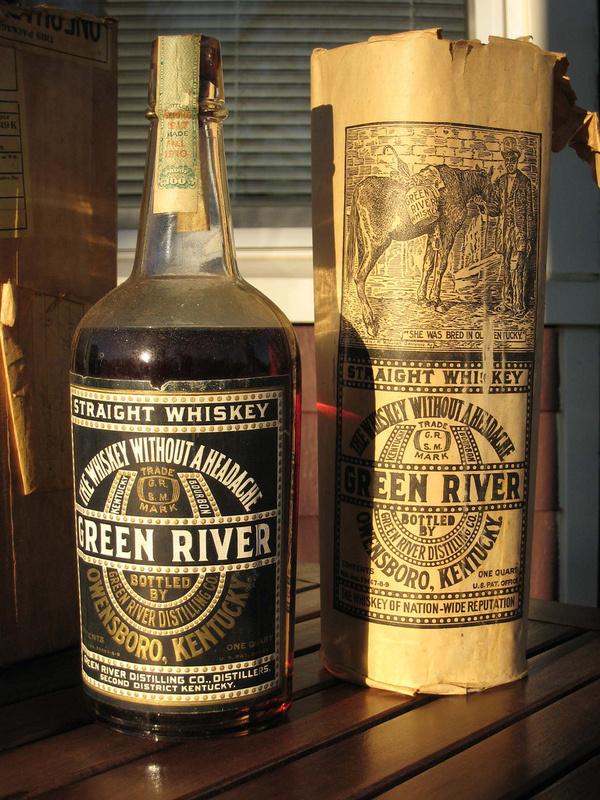 Green River Whiskey #green #whiskey #in #bond #label #vintage #river #bottled
