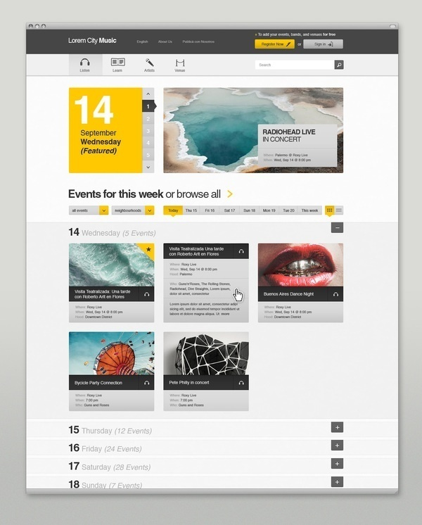 Web design inspiration #web
