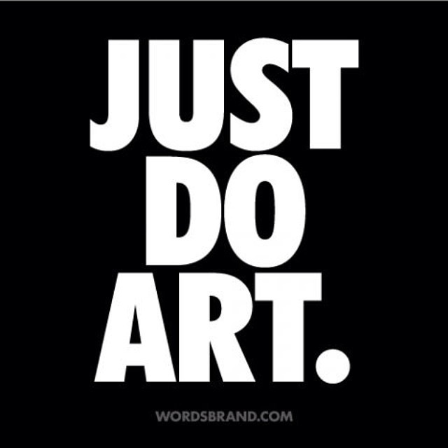 JUST DO ART. wordsbrand.com Follow WORDS BRAND™ for more word art and quotes #inspiration #just #quote #design #do #it #art #futura #typography