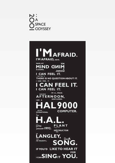 2001: A Space Odyssey Poster #hal #space #2001 #odyssey #typography