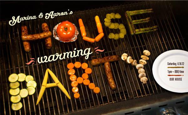 Handmade food typography