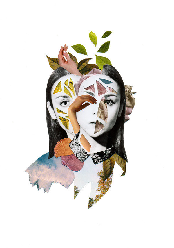 HANDMADE COLLAGES / SERIE II on Behance #collage