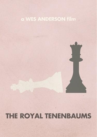 Justin Mezzell #print #wes #anderson #minimalism #royal #simple #tenenbaums #poster