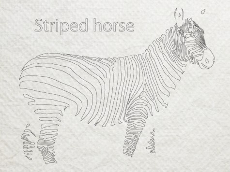 Stripes horse #horse #design #striped #zebra #stripe