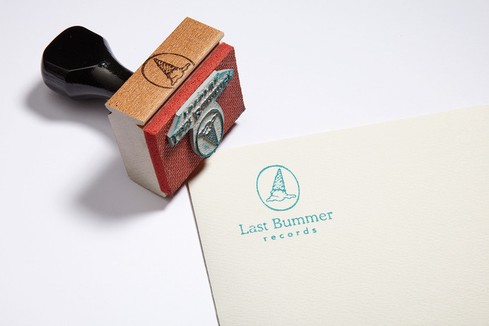 High Tide | Projects | Last Bummer Records #stamp #branding #cream #logo #ice