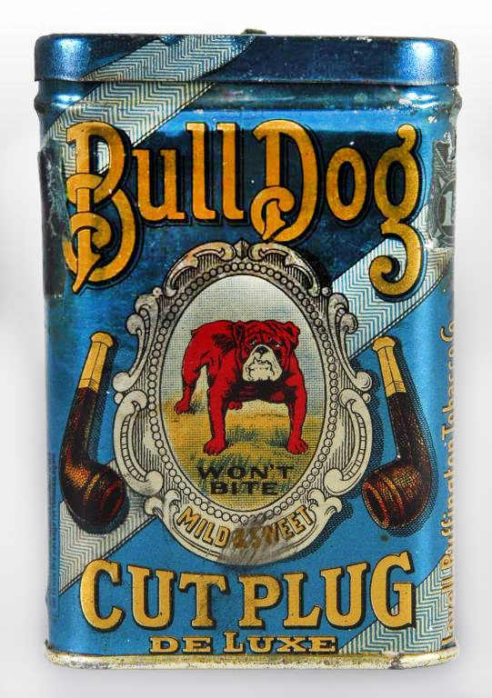 bulldog tin #design #tin #pipe #vintage #radness #bulldog #typography