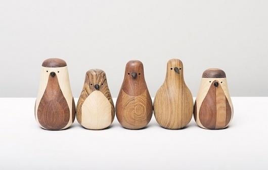 Lars Beller Fjetland: Re-turned - thisispaper #wood #recycled #art #bird