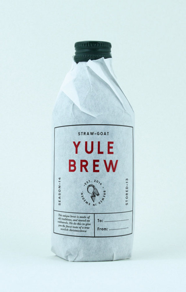 STRAW-GOAT YULEBREW #packaging #beer #brew #bottle