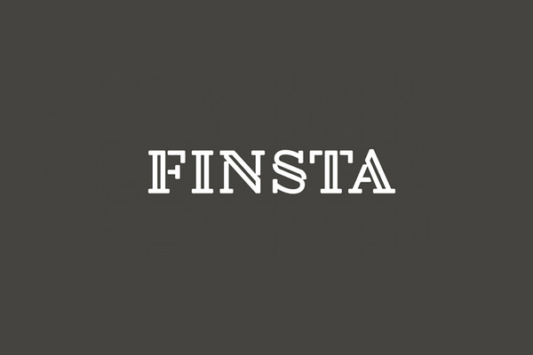 Logotype designed by Werklig for Finish law firm Finsta #finsta