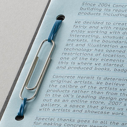 paper clip and rubber band binding #binding